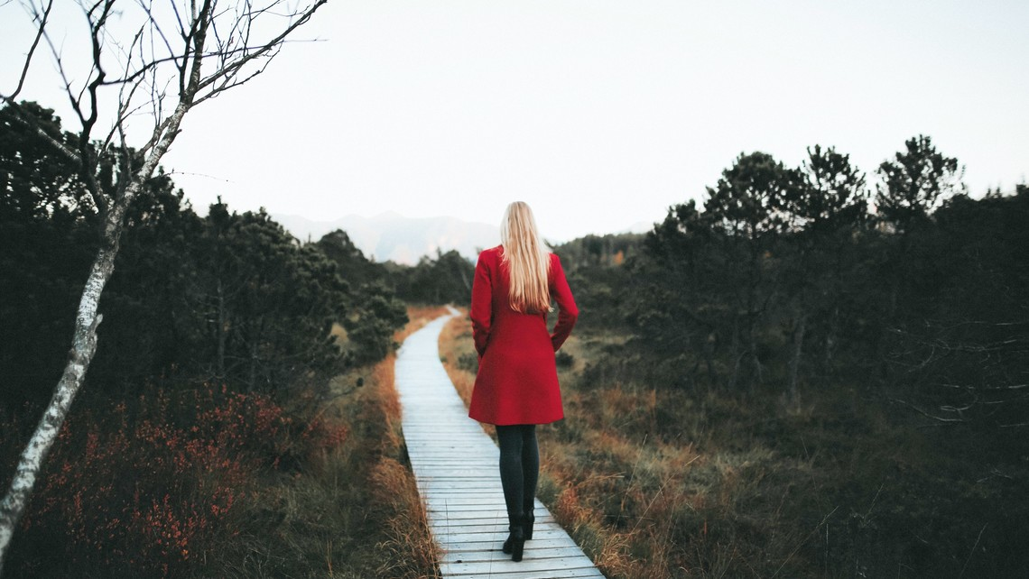 Pexels Girl In Red Coat