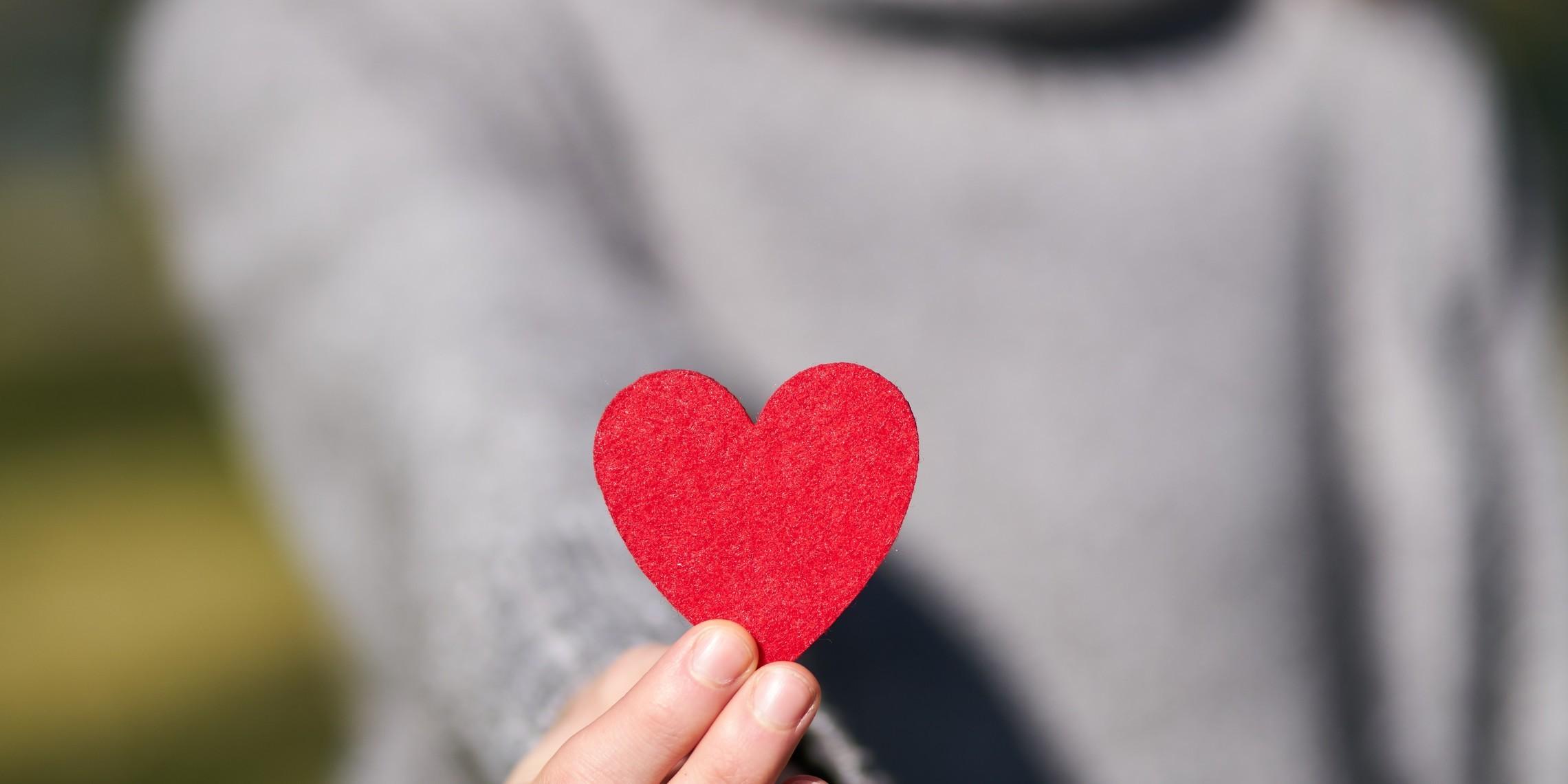 Macro Shot Of Heart Shaped Cut Out 1820511